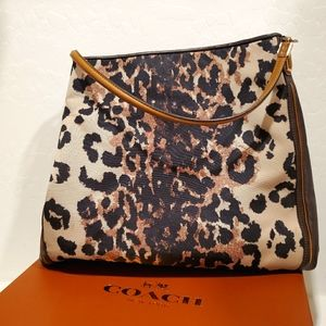 Coach Madison Animal Print Shoulder Bag